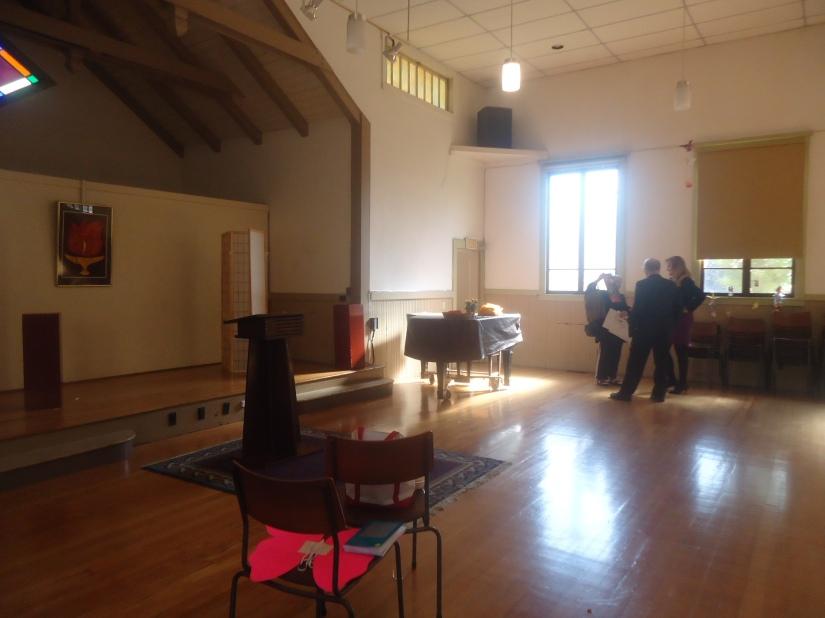 side view fellowship hall