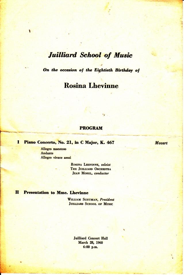 R. Lhevinne program