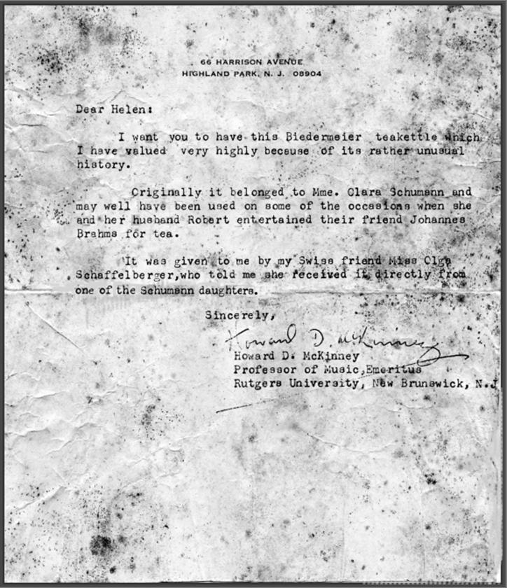 letter about tea kettle