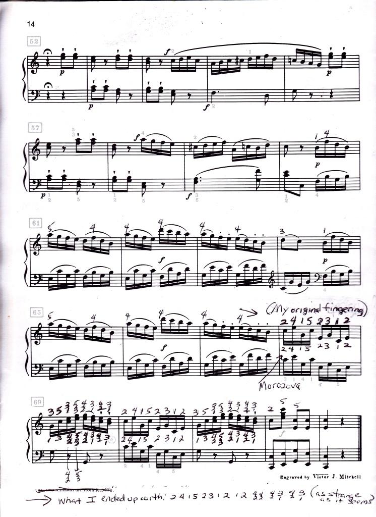 Mozart Allegretto m 68 to 73