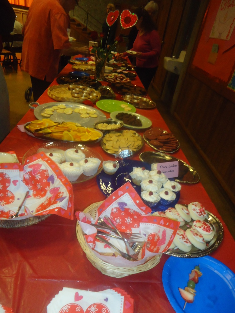 chocolate table at Intermission