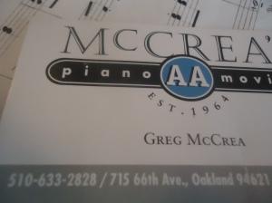 McCrea piano movers