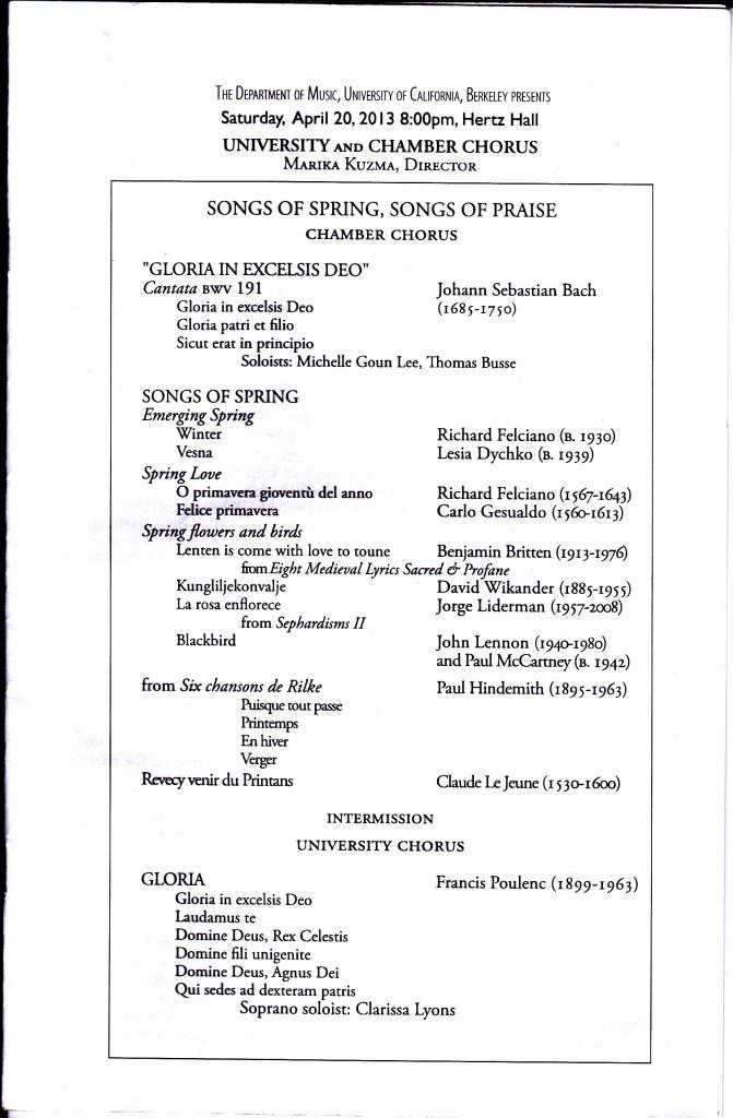 choral program