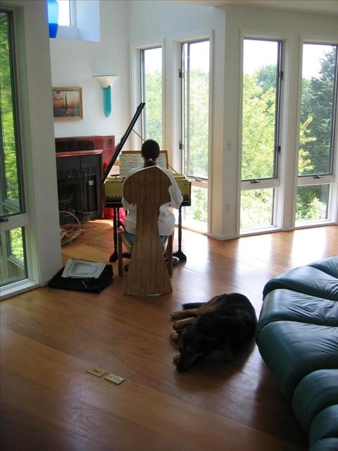 Elaine and dog