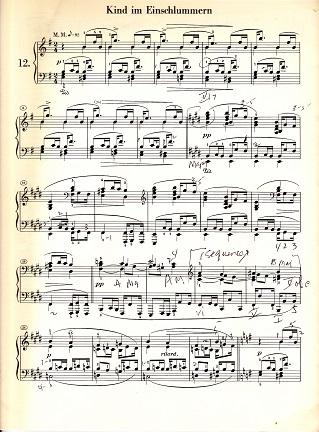 Sleeping Child Schumann Kinderszene reduced