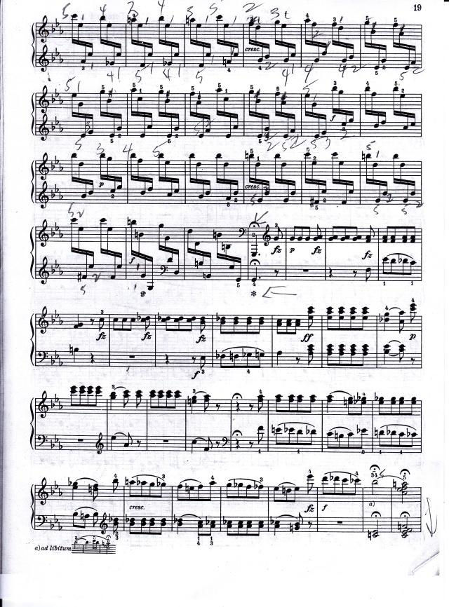 Haydn p. 2 tricky passage finale, presto