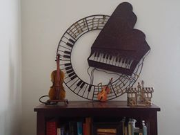 pretty sculpture my piano room
