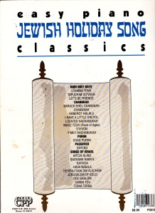Jewish Holiday songs list of selections