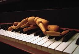 bigger frustrated at piano