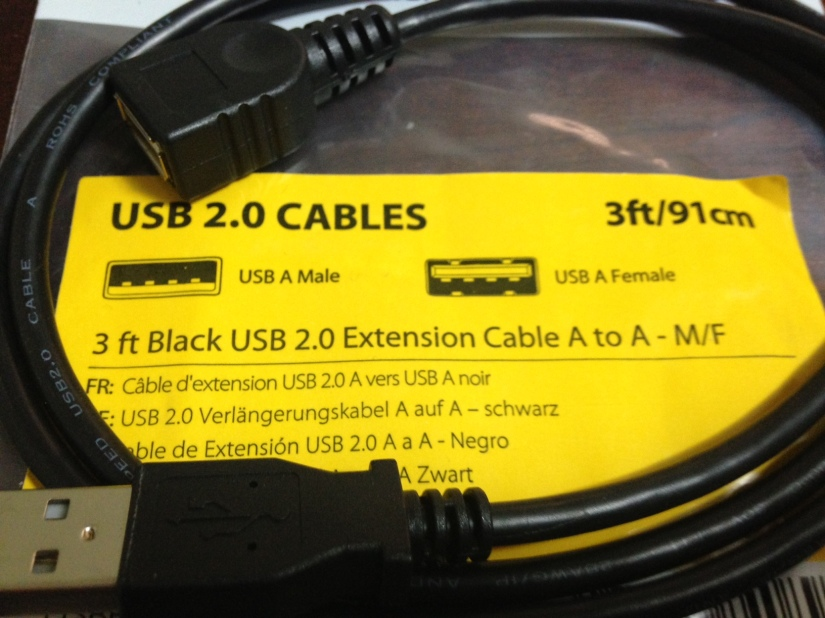 Extension USB cable