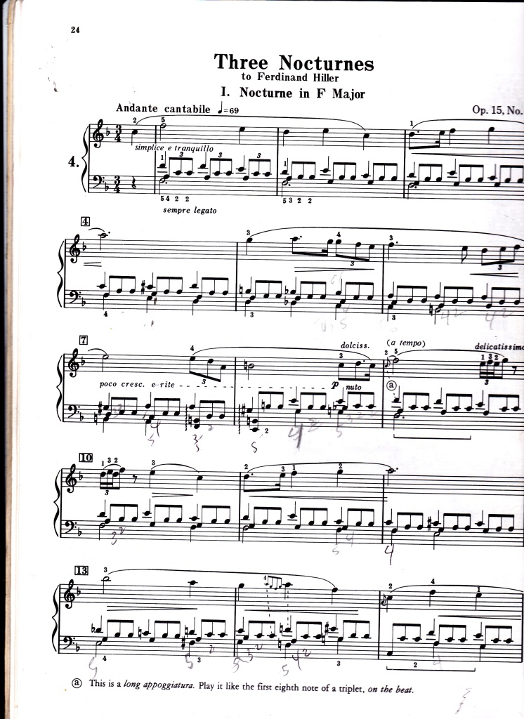 Nocturne in F Major Op. 15, p1