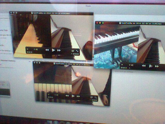 Three split screen webcam views