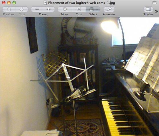 two web cam views
