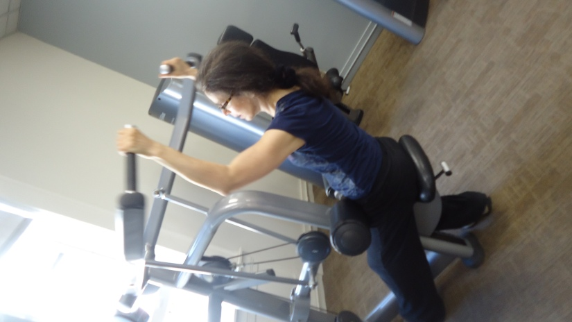 me at gym upper arm workout