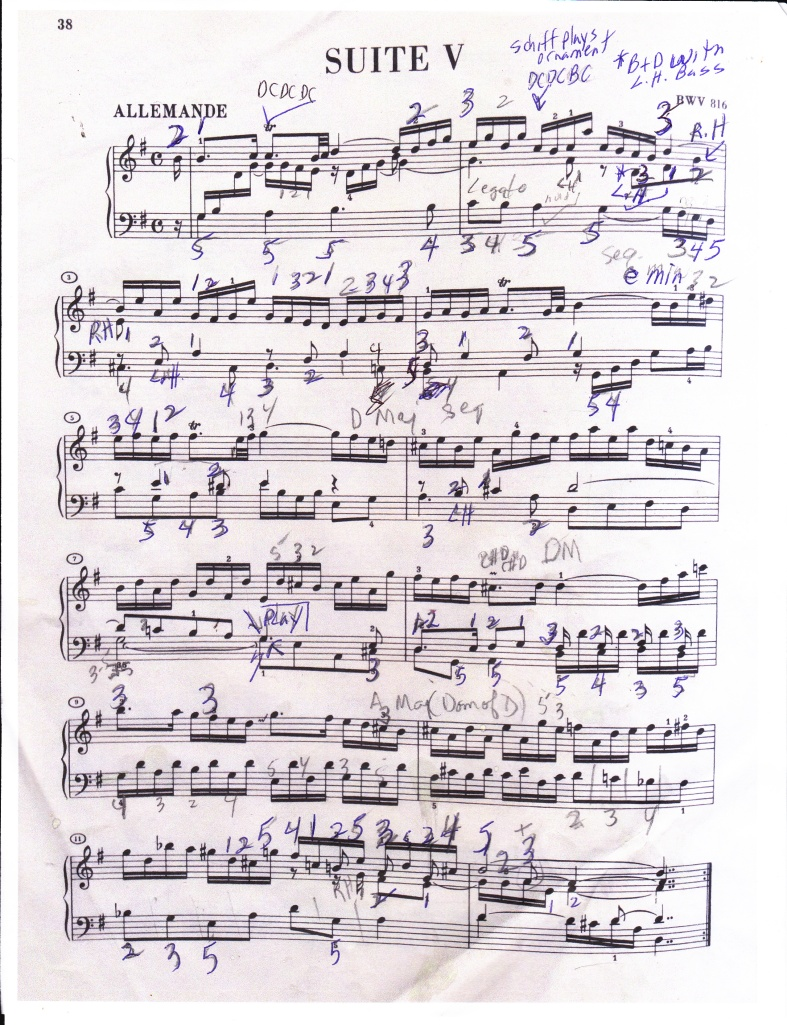 Bach French Suite p. 1