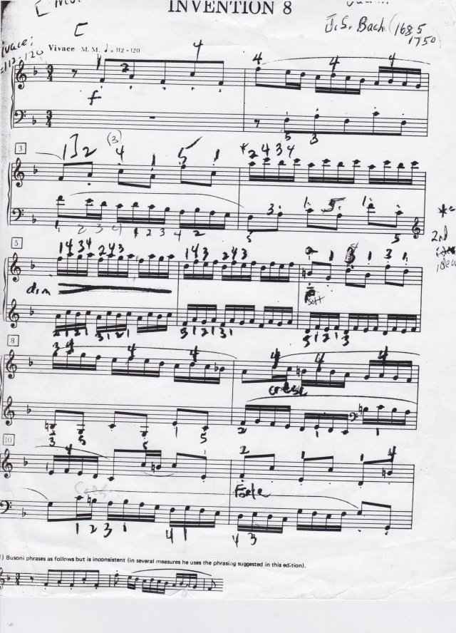 J.S. Bach Invention 8 in F Major, p. 1