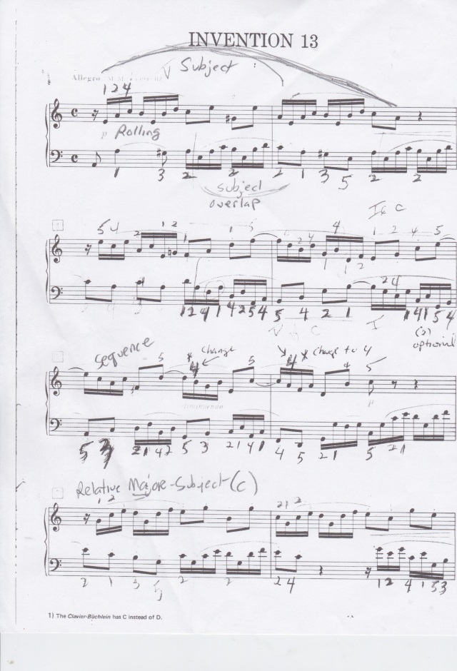 J.S. Bach Invention 13 in A minor