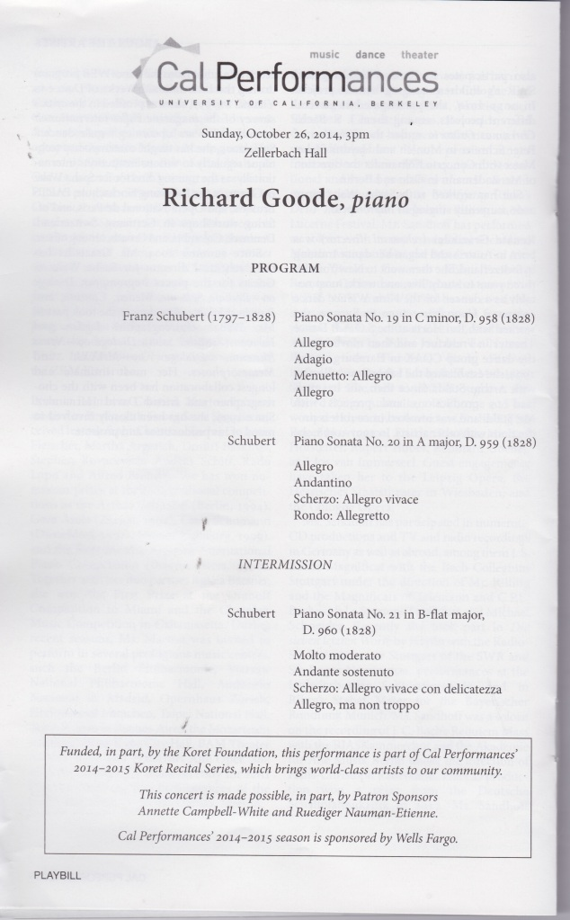 Richard Goode Program
