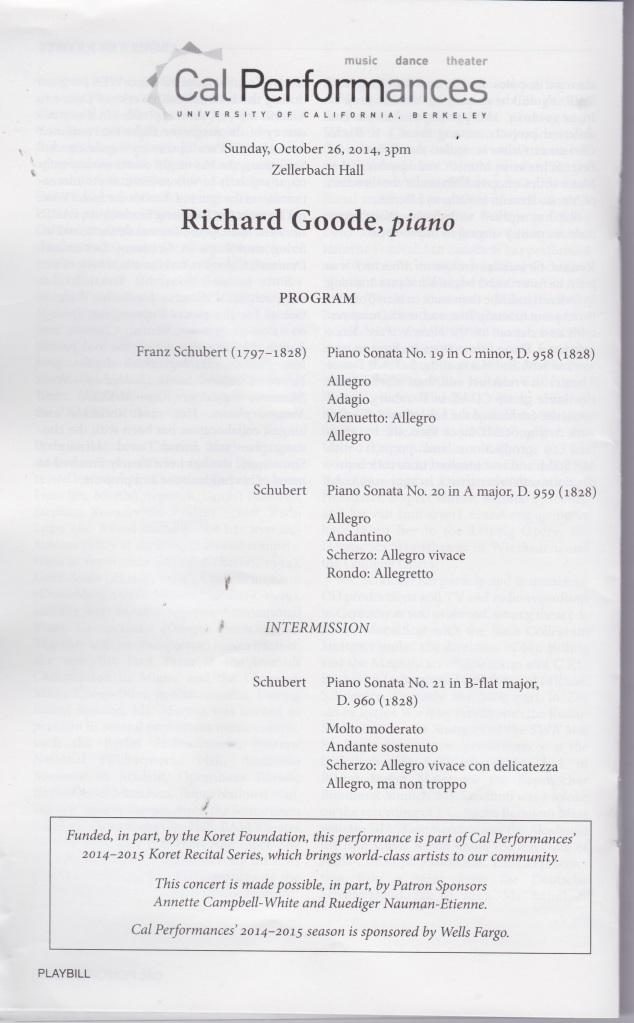 Richard Goode Program