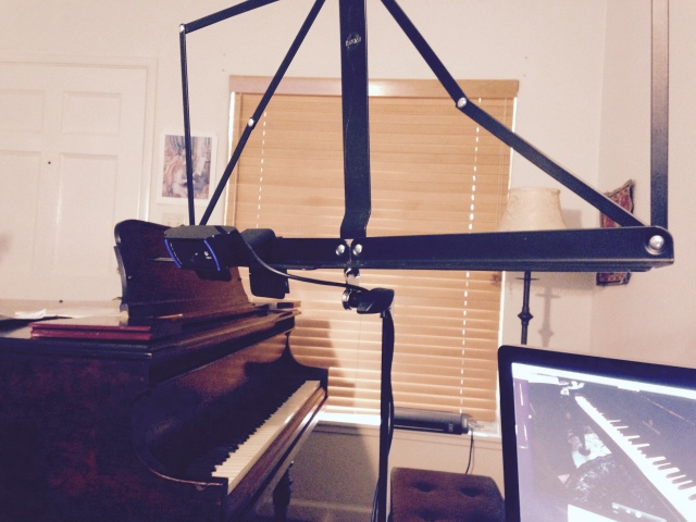 music stand mounted cam