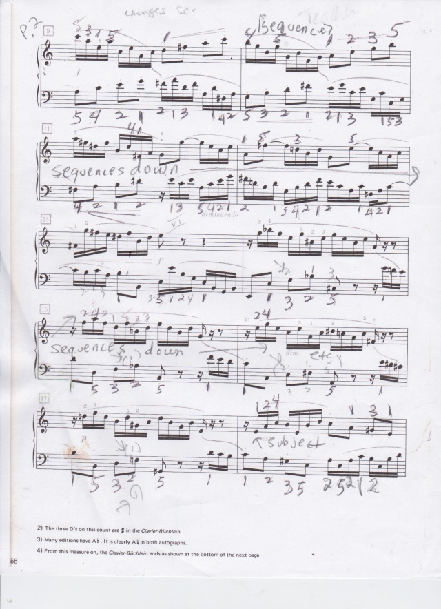 J.S. Bach Invention 13 in A minor p. 2