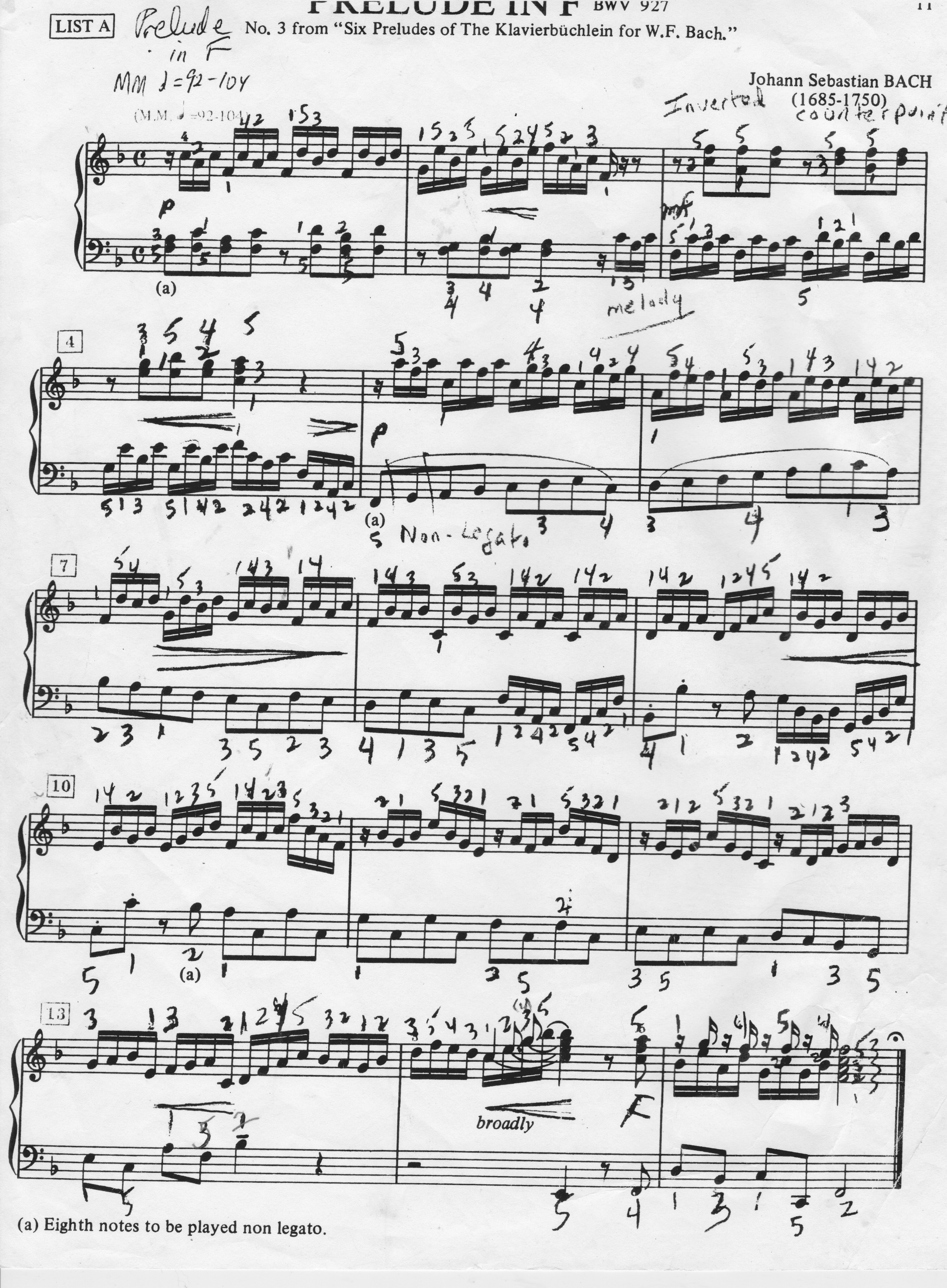 a schenkerian analysis of preludio from In music, consonance and dissonance are categorizations of simultaneous or successive sounds consonance is associated with sweetness, pleasantness, and acceptability dissonance is associated with harshness, unpleasantness, or unacceptability.