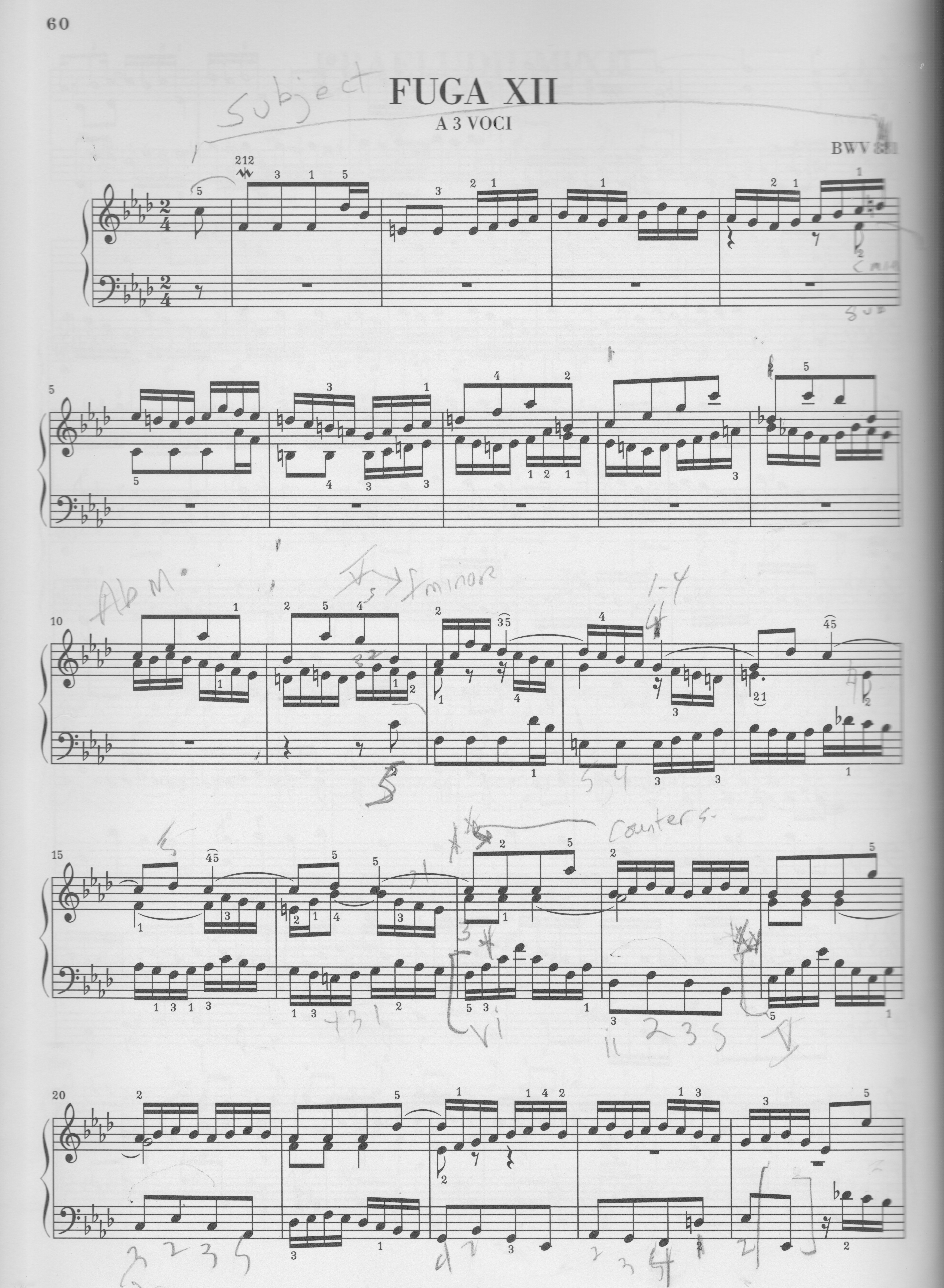 Analysis of Bach Fugue in D Minor Essay