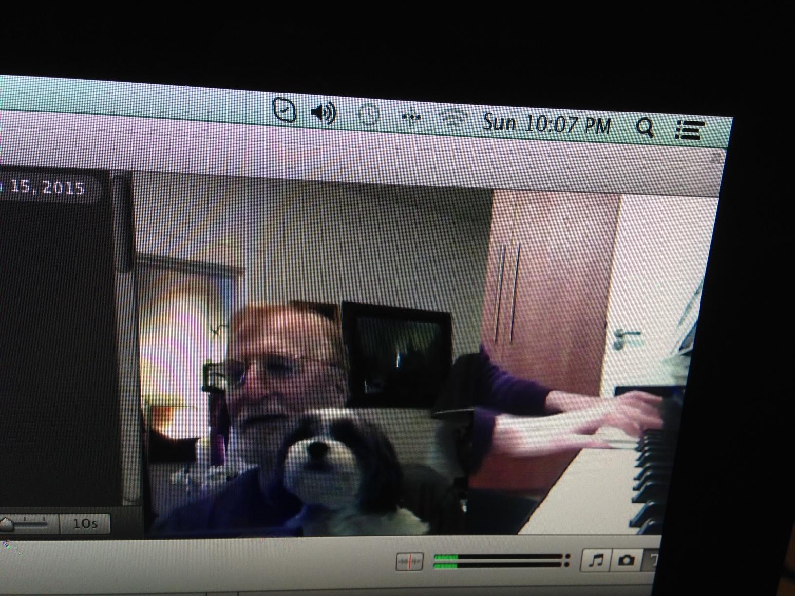 Dog One Piano Lessons Via Skype
