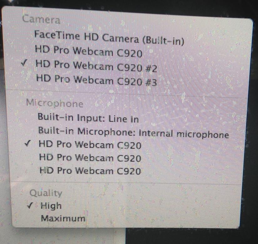 webcam listing