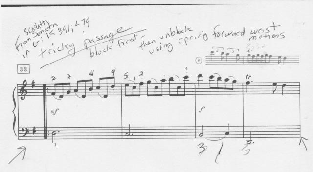 Scarlatti segment from Sonata in G