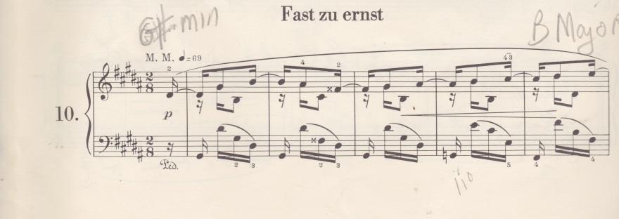 """Schumann's """"Almost Too Serious"""" (Kinderszenen No  10) requires get"""
