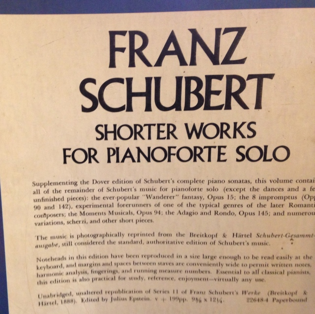Schubert shorter works