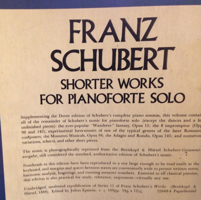 Schubert shorter works
