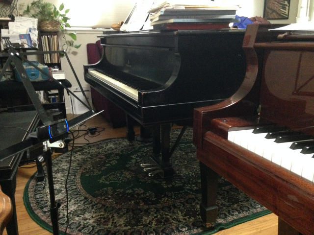 music stand cam mount between pianos