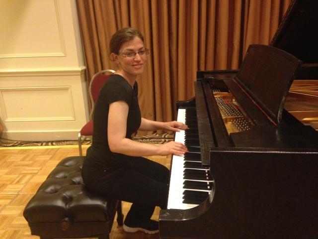 Aviva at the piano