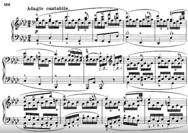 Beethoven Adagio Cantabile segment