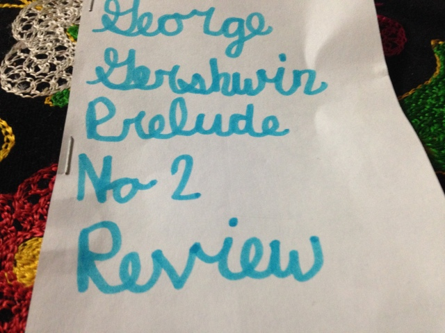 Title page Gershwin review